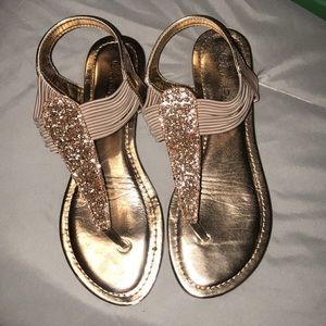 Cute Rose Gold Sandals only worn one night